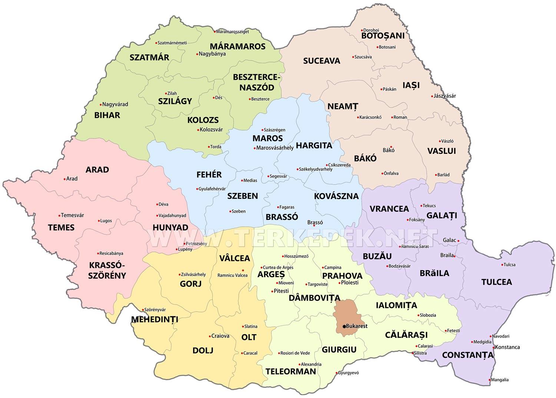 magyarország románia térkép Románia térképek magyarország románia térkép