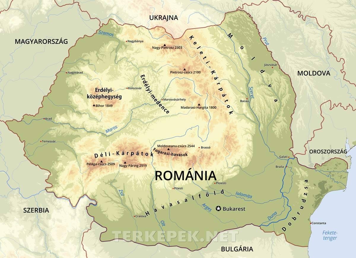 dél erdély térkép Románia térképek dél erdély térkép