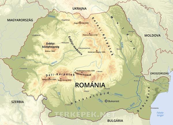 Romania Terkepek